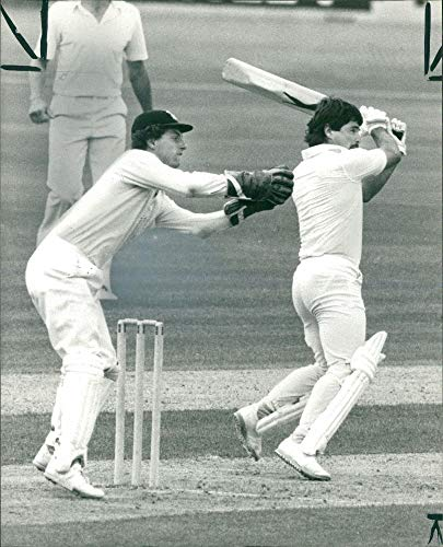 Vintage photo of Allan Lamb and jack richards.