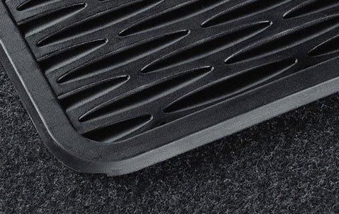BMW Genuine Black Rubber Mat Front for 320i 323Ci 323i 325Ci 325i 328Ci 328i 330Ci 330i M3 ()