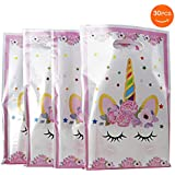 SoFire Plastic Unicorn Party Bags Gift Bags for Unicorn Birthday Party Supplies