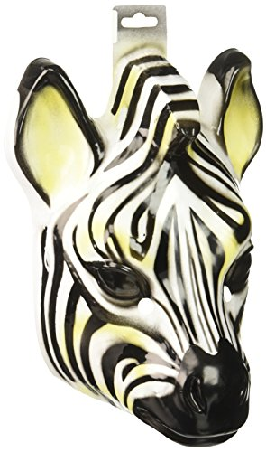 Forum Novelties Plastic Animal Zebra Mask -