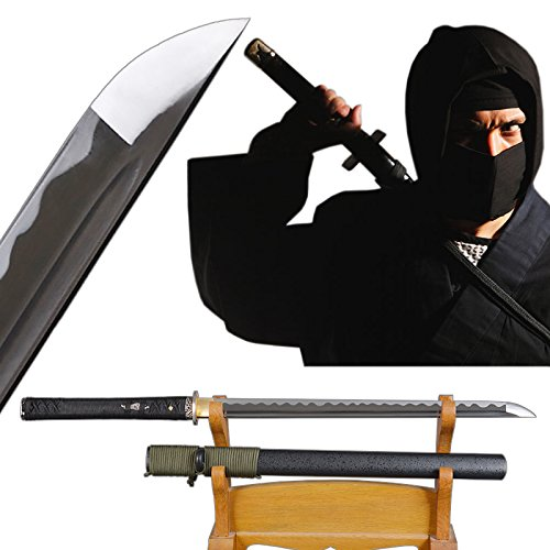 Shijian Plain Ninja Sword Straight Blade High Carbon for sale  Delivered anywhere in USA