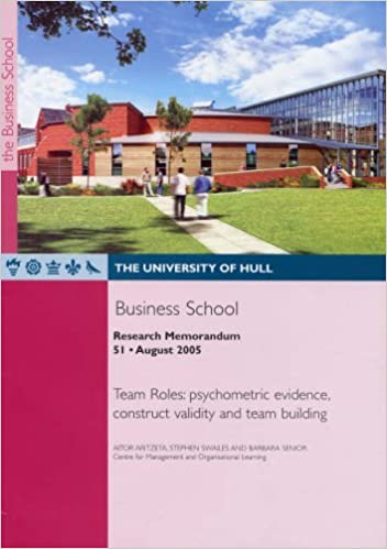 Team Roles: Psychometric Evidence, Construct Validity and Team Building (Research Memorandum)