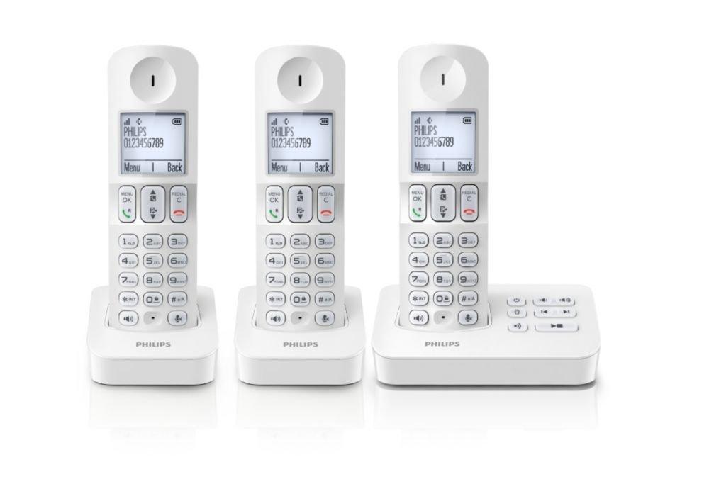 Téléphone fixe PHILIPS D4053W BLANC TRIO AVEC REPONDEUR