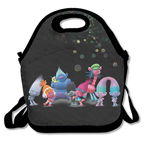 Bakeiy Trolls Family Lunch Tote Bag Lunch Box Neoprene Tote For Kids And Adults For Travel And Picnic School