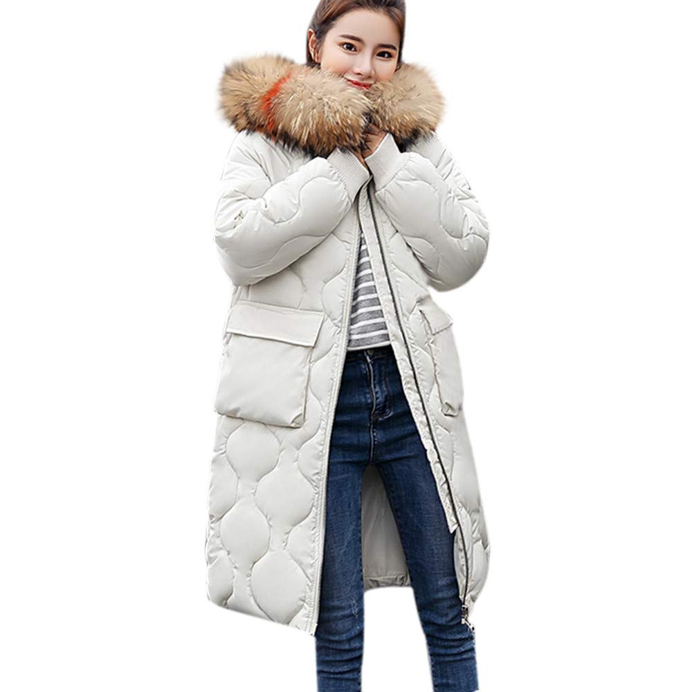 Women's Coat Thicken Warm Winter Long Parka Coat Overcoat Jacket Outwear GONKOMA