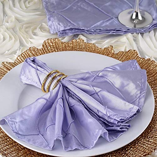 Mikash Pack of 100 Pintuck Style Napkins Wedding Party Banquet 20+ Colors | Model WDDNGDCRTN - 21557 | ()