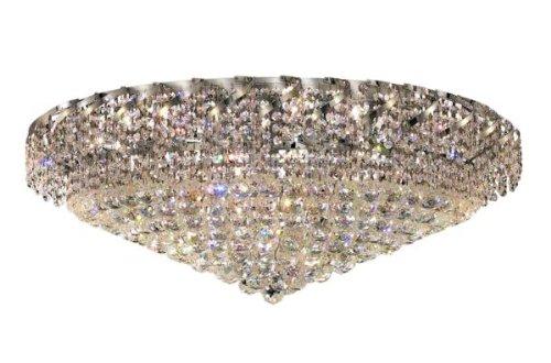 Elegant Lighting ECA1F36C/RC Belenus 18-Inch High 28-Light Flush Mount, Chrome Finish with Crystal (Clear) Royal Cut RC Crystal (Belenus 18 Light)