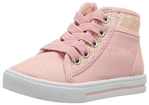 OshKosh B'Gosh Girls' Babette Glitter High-Top Sneaker, Pink, 8 M US Toddler
