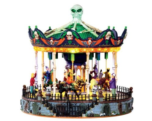 Lemax 34605 SCARY-GO-ROUND SPOOKY TOWN Exclusive Carnival Ride