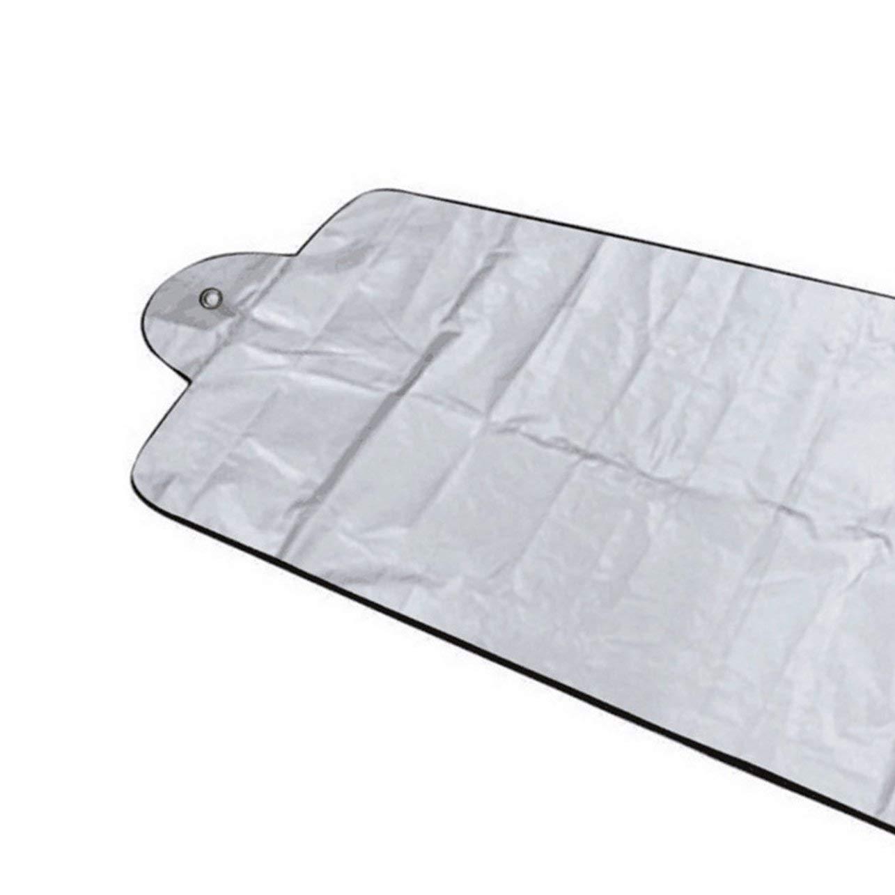 WOSOSYEYO Pare-Brise Visor Couverture UV Protection Anti Glace Neige Givre Protection Shield poussi/ère Pare-Soleil pour Pare-Brise Avant Voiture
