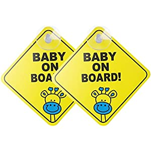 Personalised Grandsons White Star Shaped Baby On Board Car Sign ~ New! 3