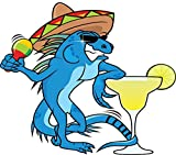 Funny Mexican Iguana Home Decal Vinyl Sticker 14'' X 12''