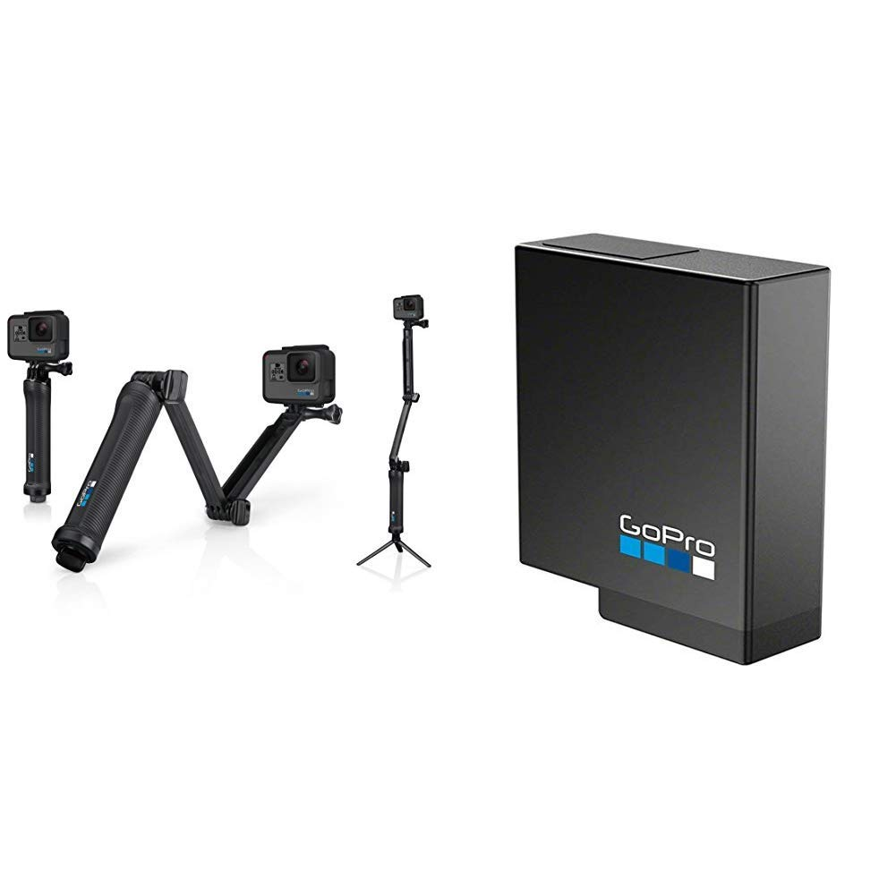 GoPro 3-Way Grip, Arm, Tripod with Rechargeable Battery