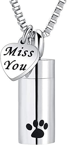 XSMZB Infinity Urn Necklace for Ashes Stainless Steel Pendant Locket Keepsake Memorial Cremation Jewelry for Women//Men