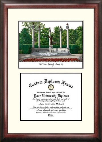 (Ball State University Scholar Framed Lithograph with Diploma)