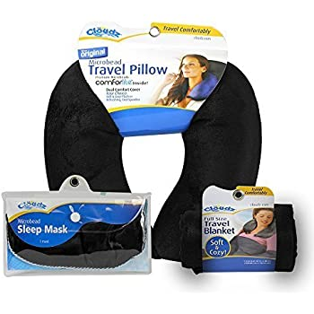 Amazon Com Cloudz Microbead Travel Neck Pillow Sleep