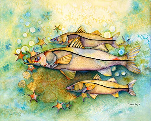Hand Signed Giclee Canvas - Snook Fish Art Limited Edition Signed Giclee Watercolor Print on Canvas or Matte Paper