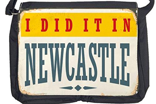 Borsa Tracolla Voglia Viaggiare Città Newcastle Englnad Stampato