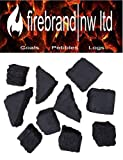 15 Random Mixed Gas Fire Ceramic Coals Replacement Grate Glow/Bio Fuels/Ceramic/Boxed