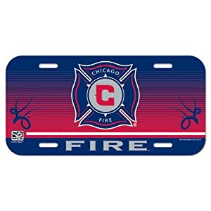 Wincraft Soccer Chicago Fire License Plate