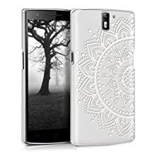 kwmobile Crystal Case for OnePlus One with Design sunflower pattern - transparent Protection Case Cover clear in white transparent