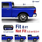 Tyger Auto TG-BC3T1434 TRI-FOLD Truck Bed Tonneau Cover 2014-2018 Toyota Tundra | Fleetside 8' Bed | For models with or without the Deckrail System