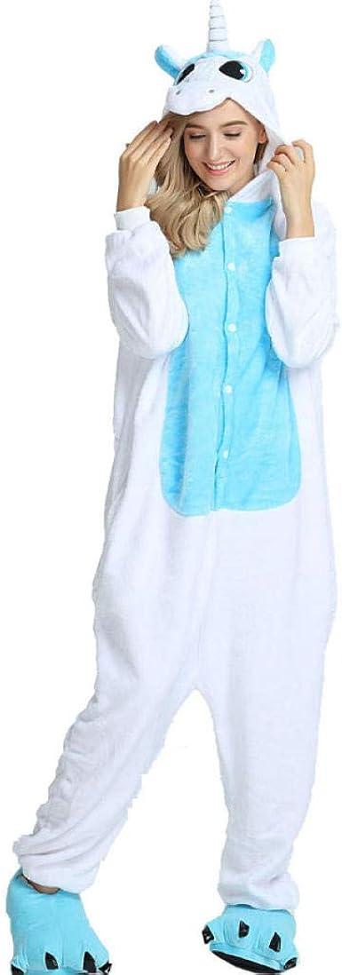Pijama Azul Lindo Unicornio Linda Pareja Siamesa Traje ...