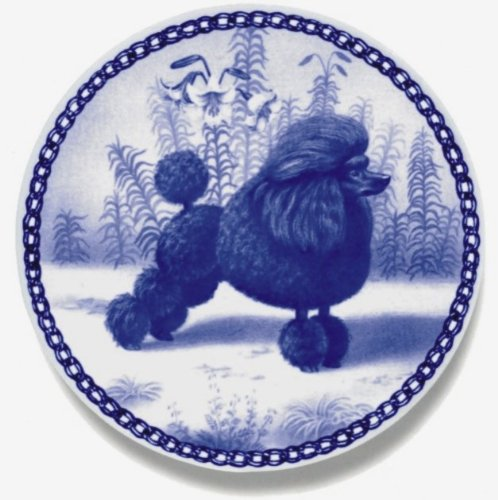 Poodle - Toy / Lekven Design Dog Plate 19.5 cm /7.61 inches Made in Denmark NEW with certificate of origin PLATE #7129 by Lekven