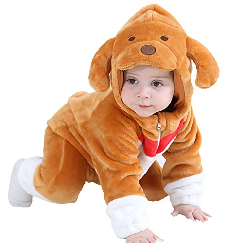 MerryJuly Toddler Unisex-Baby Halloween Costume Animal Onesie Outfit Puppy 80cm/6-12 Months (Puppy Infant)