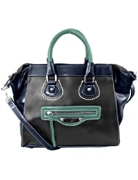 20780 Nila Anthony Small color block tote (Grey)