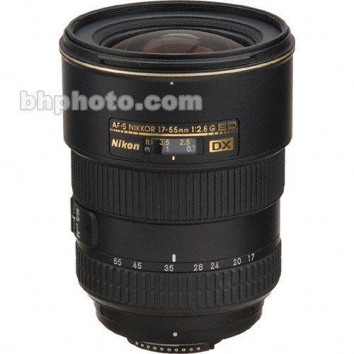 - Nikon AF-S DX NIKKOR 17-55mm f/2.8G IF-ED Zoom Lens with Auto Focus for Nikon DSLR Cameras International Version (No warranty)
