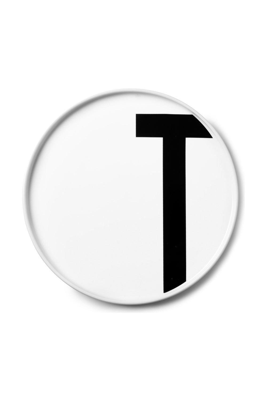 Design Letters Teller Porzellan Arne Jacobsen Buchstabe: T