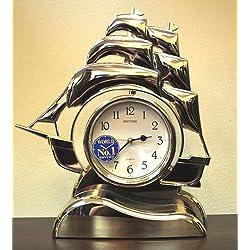 Rhythm USA Sailing Ship Mantel Clock