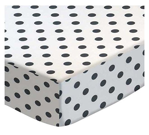 SheetWorld Fitted Cradle Sheet - Grey Polka Dots - Made In U