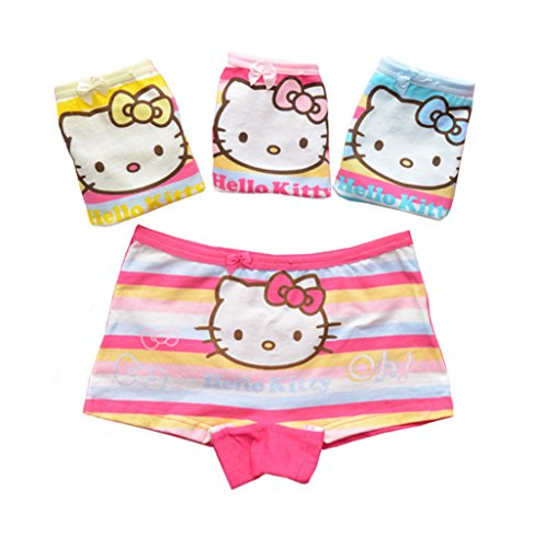 2-8 Year Girls Hellokitty Boyshort Toddler Rainbow Underwear Covered Dress Shorts 4 Pack