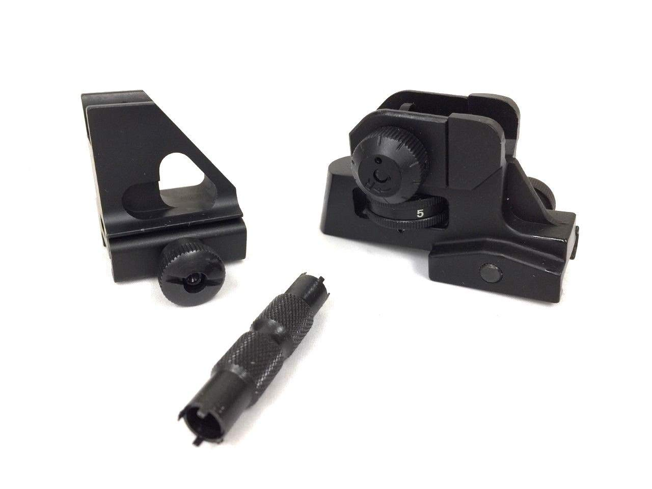 15rail- Low Profile Detachable Front Sight + Tactical Match Rear Sight with Front Sight Adjustment Tool