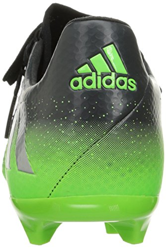 adidas Performance Herren Messi 16.2 FG Fußballschuh Dunkelgrau / Metallic Silber / Neon Grün