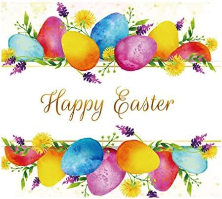 VORCOOL Pasen Fotografie Achtergrond Vrolijk Pasen Kleurrijke Eieren Lentebloem Ontwerp 180X270cm Fotografieachtergrond Vinyl Pasen Foto Prop 150120Cm