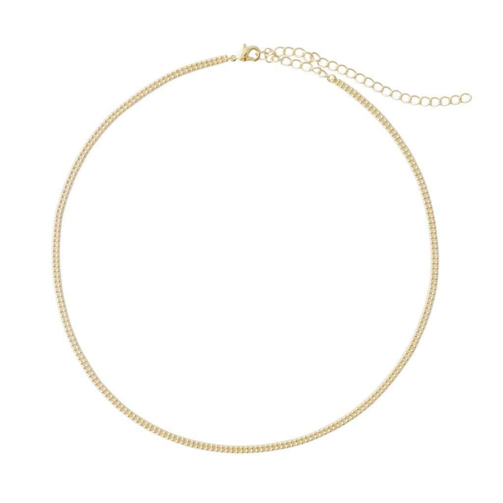ba4b83d5f1d0e Amazon.com: HONEYCAT Double Ball Chain Choker-Necklace in 24k Gold ...