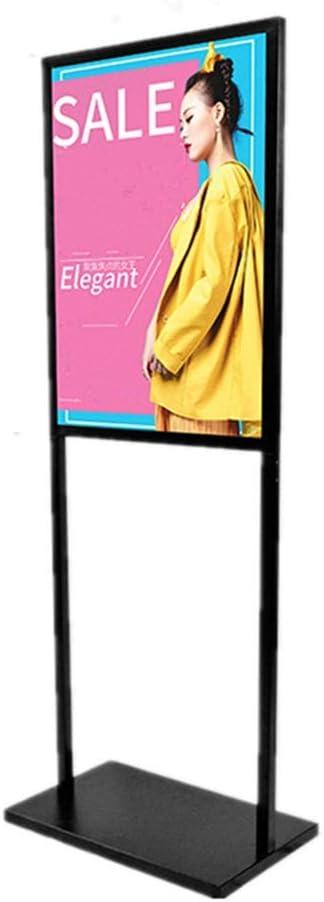 ポスターサインホルダーディスプレイスタンドフレームを立ちフロアスタンド、お知らせ活動ディスプレイ(ブラック)用スタンド (色 : ブラック, サイズ : 60 x 80cm)