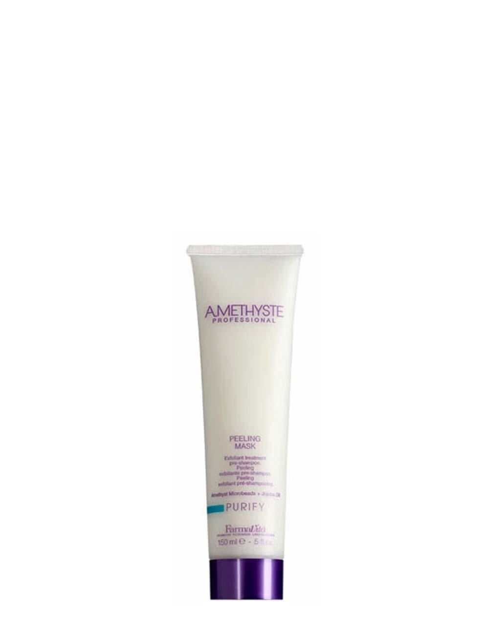 Amethyst Purify Peeling Mask 200 ml Maschera Purificante Pre-Shampoo Capelli Farmavita 8022033016157