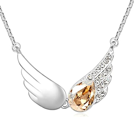 AMDXD Jewelry Alloy Pendant Necklaces for Women Round 3.2X1.7CM