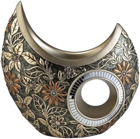 ORE International K-4238-V1 Chrysanthemum Decorative Vase, Green