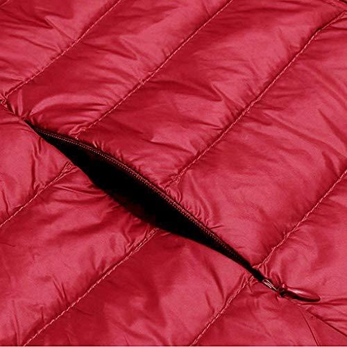 Hiver lgre Packable Le Haut Bas col vers Haut Fille l'automne Puffer Femmes Red Vest wpFWqRFgT
