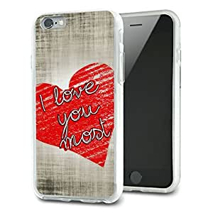 I Love You Most with Hearts Slim Fit Hybrid Case Fits Apple iPhone 6