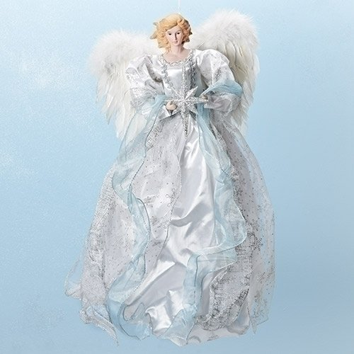 el with Star Ornament Tree Topper White Gown ()