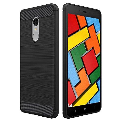 Funda Xiaomi Redmi 4X, POOPHUNS Carcasa Xiaomi Redmi 4X, TPU Silicona Carcasas Fundas Case Cover Caso Protectora, Ultra Slim, Anti-Rasguño, Anti-Golpes, Shock-Absorción, Resistente Huellas Dactilares, Funda Xiaomi Redmi Note 4/4X