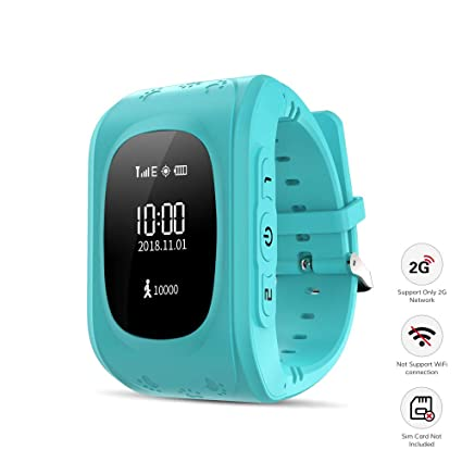 Kid Smart Watch, Wonbo Soft Silicone GPS Tracker with SIM Slot SOS Call Real-time Location Finder Anti-Lost Alarm Remote GPS & LBS Monitor Watch ...