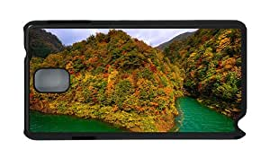 Stylish Samsung Note 3 for sale cover Lake Tazawa Japan mountains forest autumn PC Black for Samsung Note 3/Samsung N9000