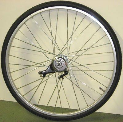 26インチ リアホイール アルミ 内装3段 ローラーブレーキ付(11C) タイヤチューブセット   B005PULJM8